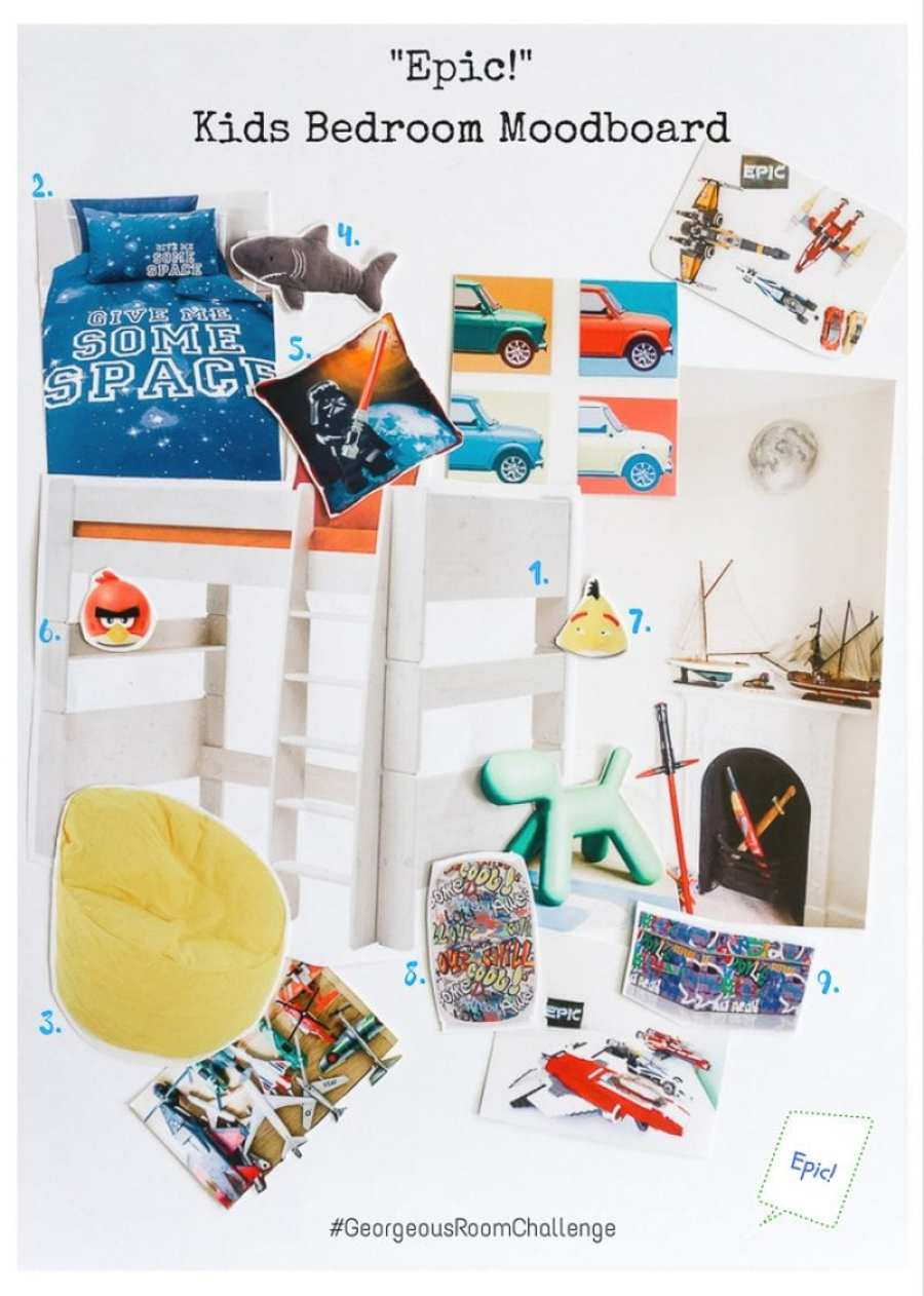 Georgeous Kids Bedroom Moodboard