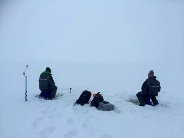 Fishing with a white out