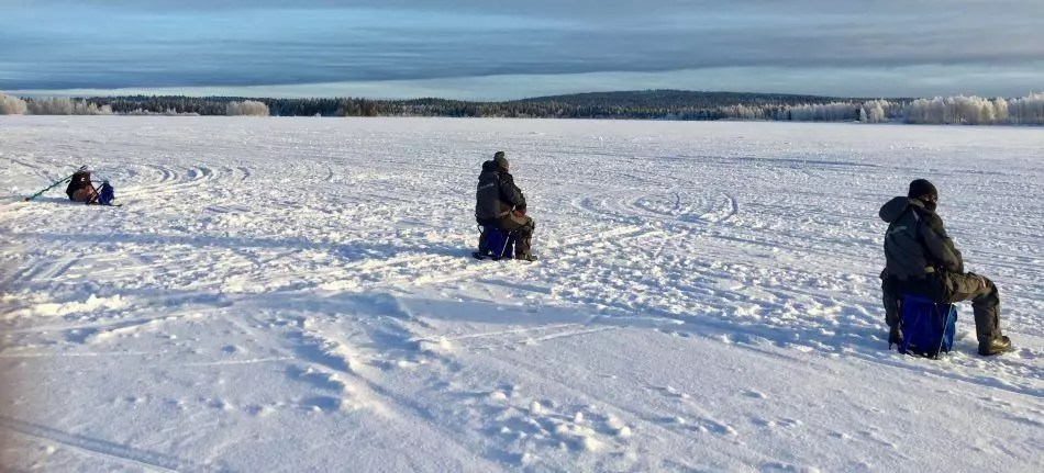Ice Fishing and snowshoeing