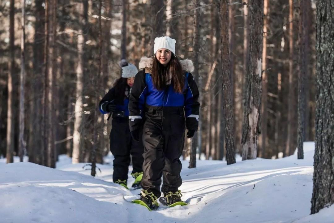 Snowshoe trip rovaniemi