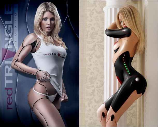 Sexy android girl