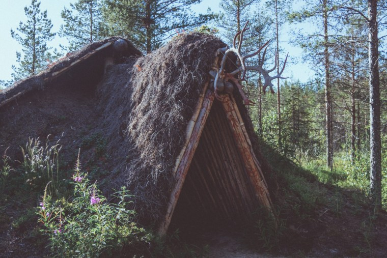 Neolithic wooden house in Kierikki