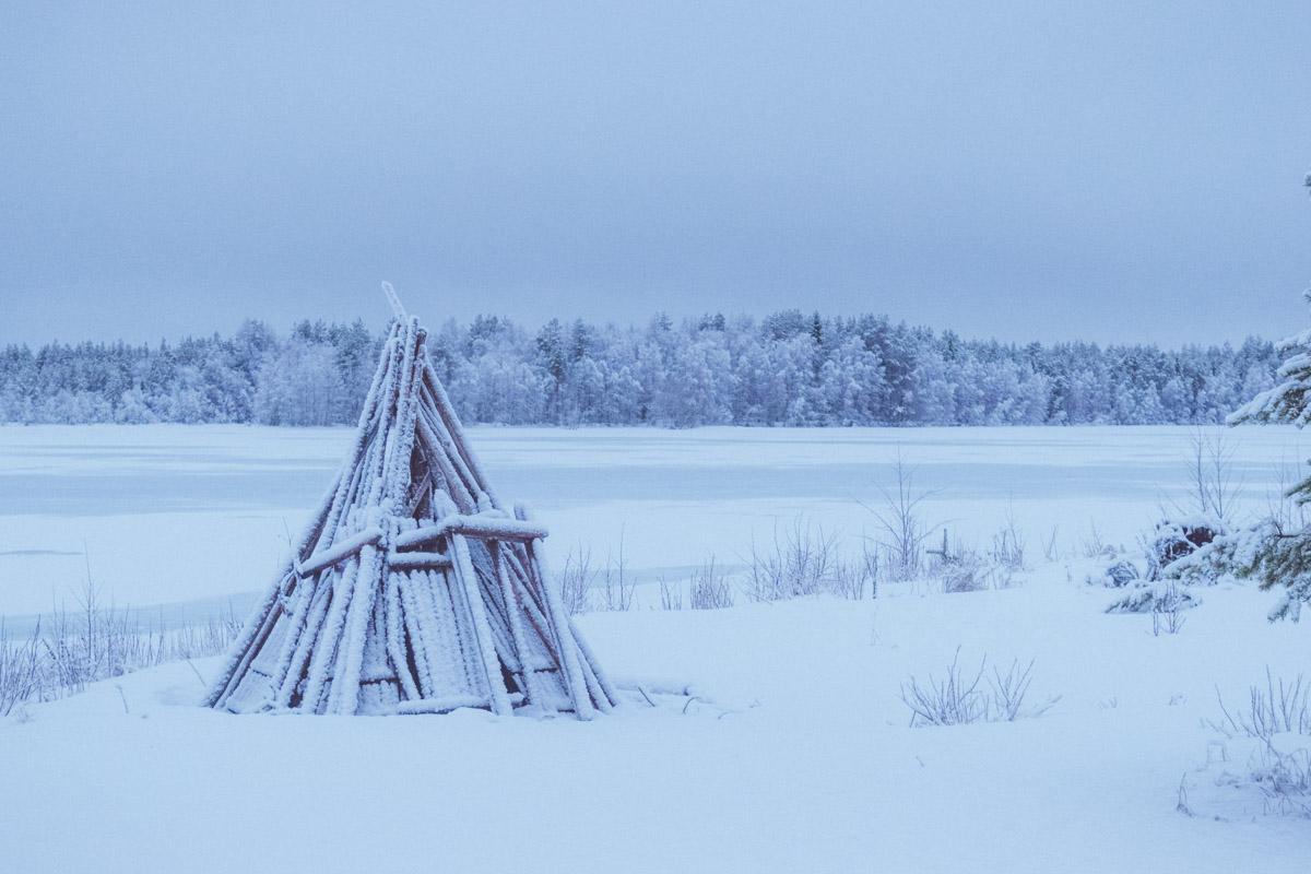 Kierikki covered in snow
