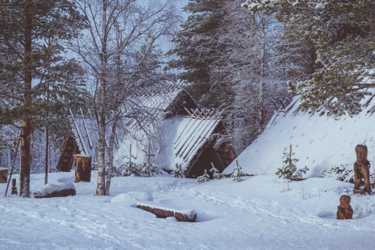 Stone age village in Kierikki, Finland