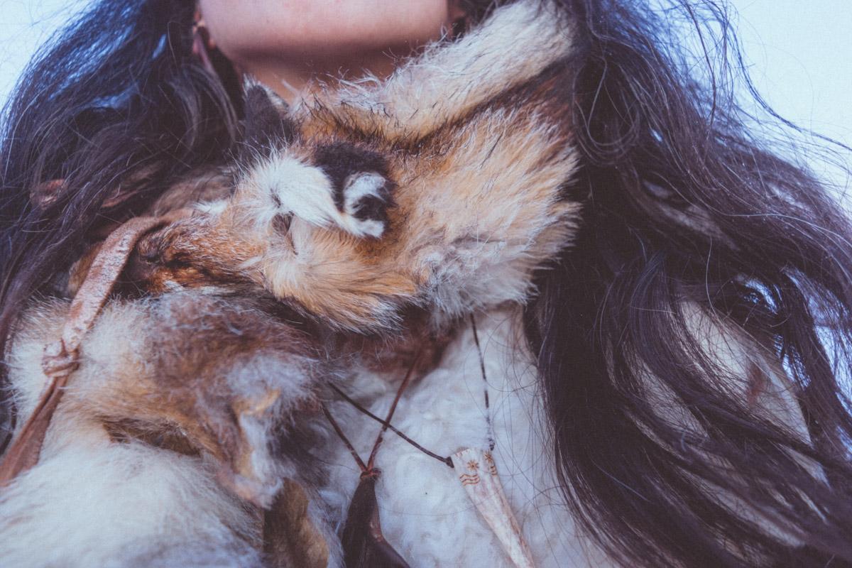 Roadkill handtanned fox scarf