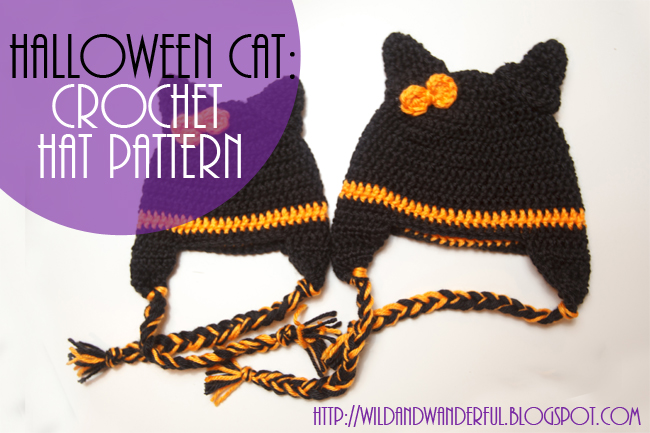 Halloween Cat Crochet Hat Pattern Free Wildwanderful