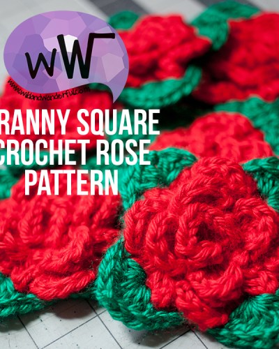 Granny Square Rose :: Free Crochet Pattern