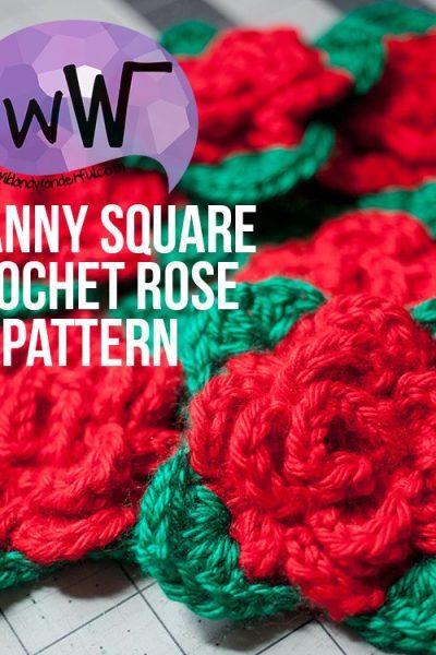 Granny Square Rose :: Free Crochet Pattern