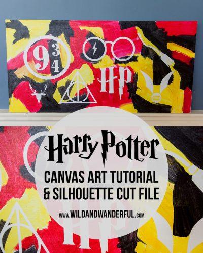 Harry Potter Wall Art (Free Silhouette File!)
