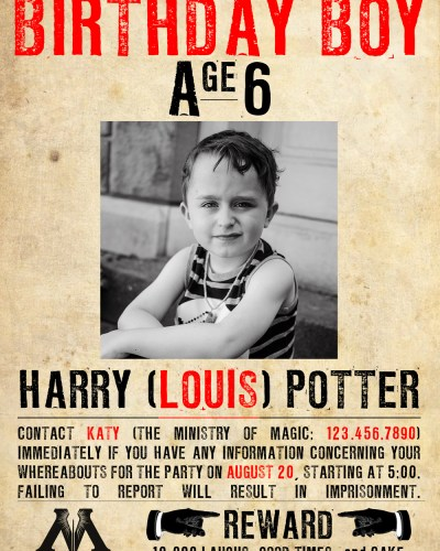 Happy Birthday, Harry [Louis] Potter!