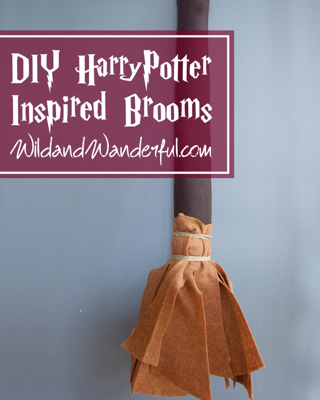DIY Harry Potter-Inspired Quidditch Brooms