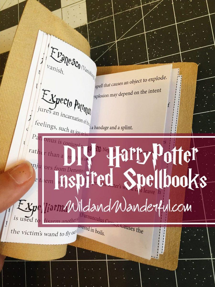 Diy Harry Potter Spellbook Printable Wild Wanderful