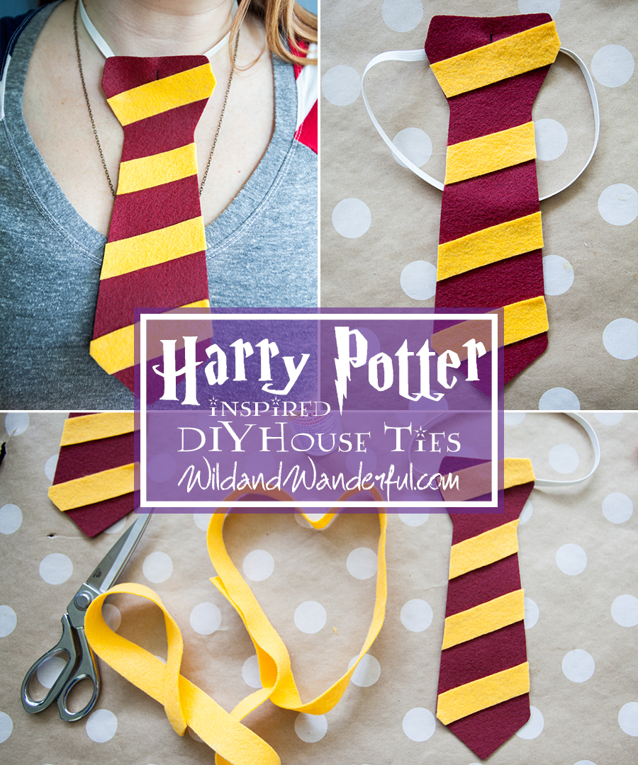 Diy harry potter house ties wild wanderful for Harry potter tie template