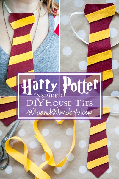 DIY Harry Potter House Ties