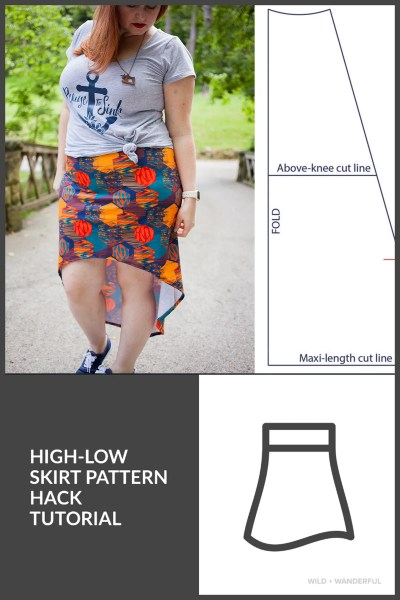 """Mama Chloe"" High-Low Skirt :: Pattern Hack Tutorial"