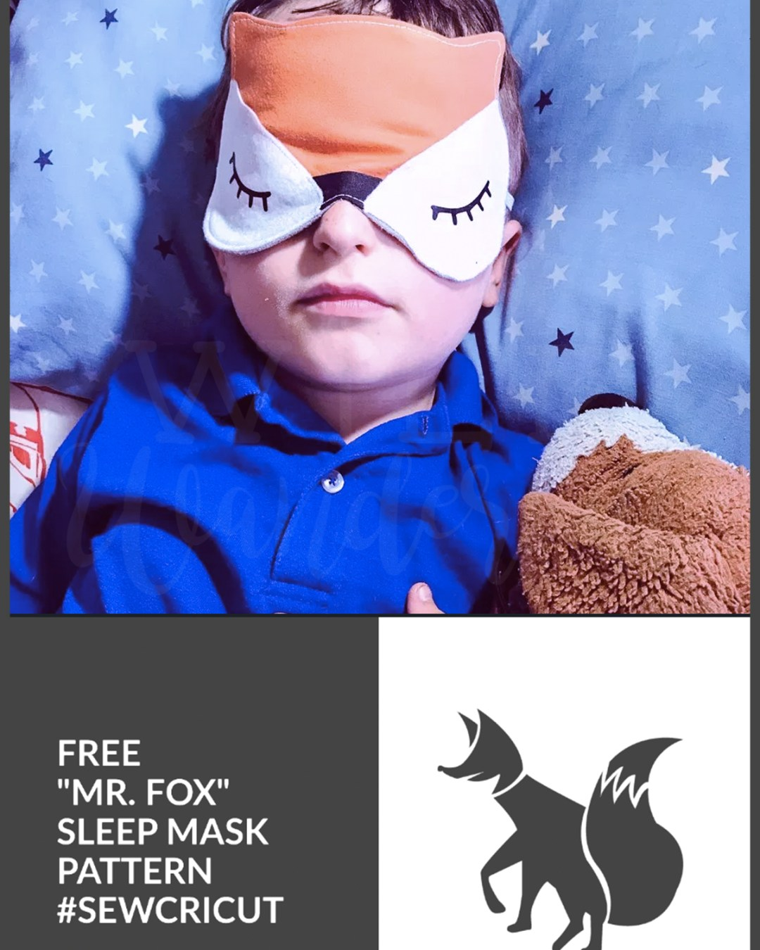 Mr. Fox Sleep Mask :: FREE Sewing Pattern + Cricut Maker File
