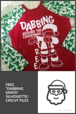 Dabbing Around the Christmas Tree :: Free Silhouette + Cricut Cut Files!