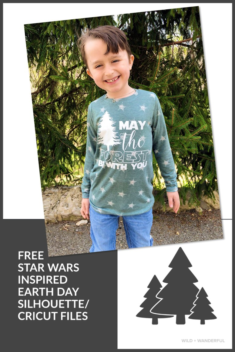 "May the Forest Be With You"" FREE Silhouette / Cricut Cut File"