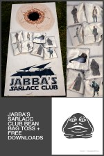 Jabba's Sarlacc Club Bean Bag Toss :: Star Wars Birthday Party