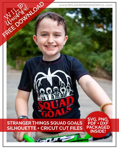 "Stranger Things ""Squad Goals"" :: FREE Silhouette + Cricut Cut Files!"