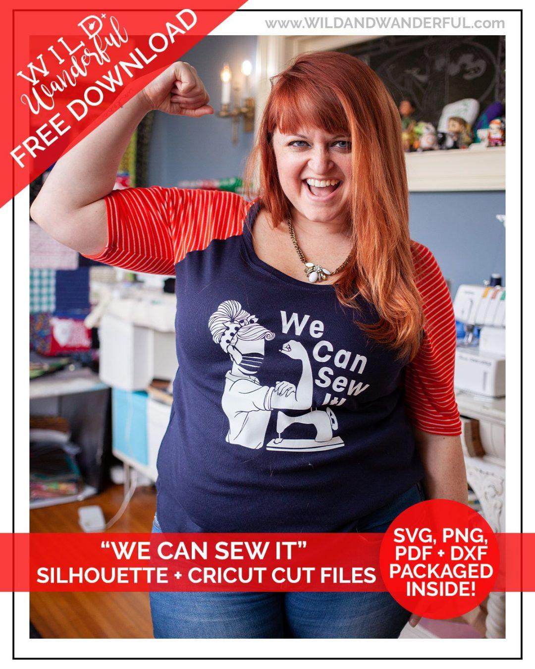 We Can Sew It! :: FREE Silhouette + Cricut Cut Files!