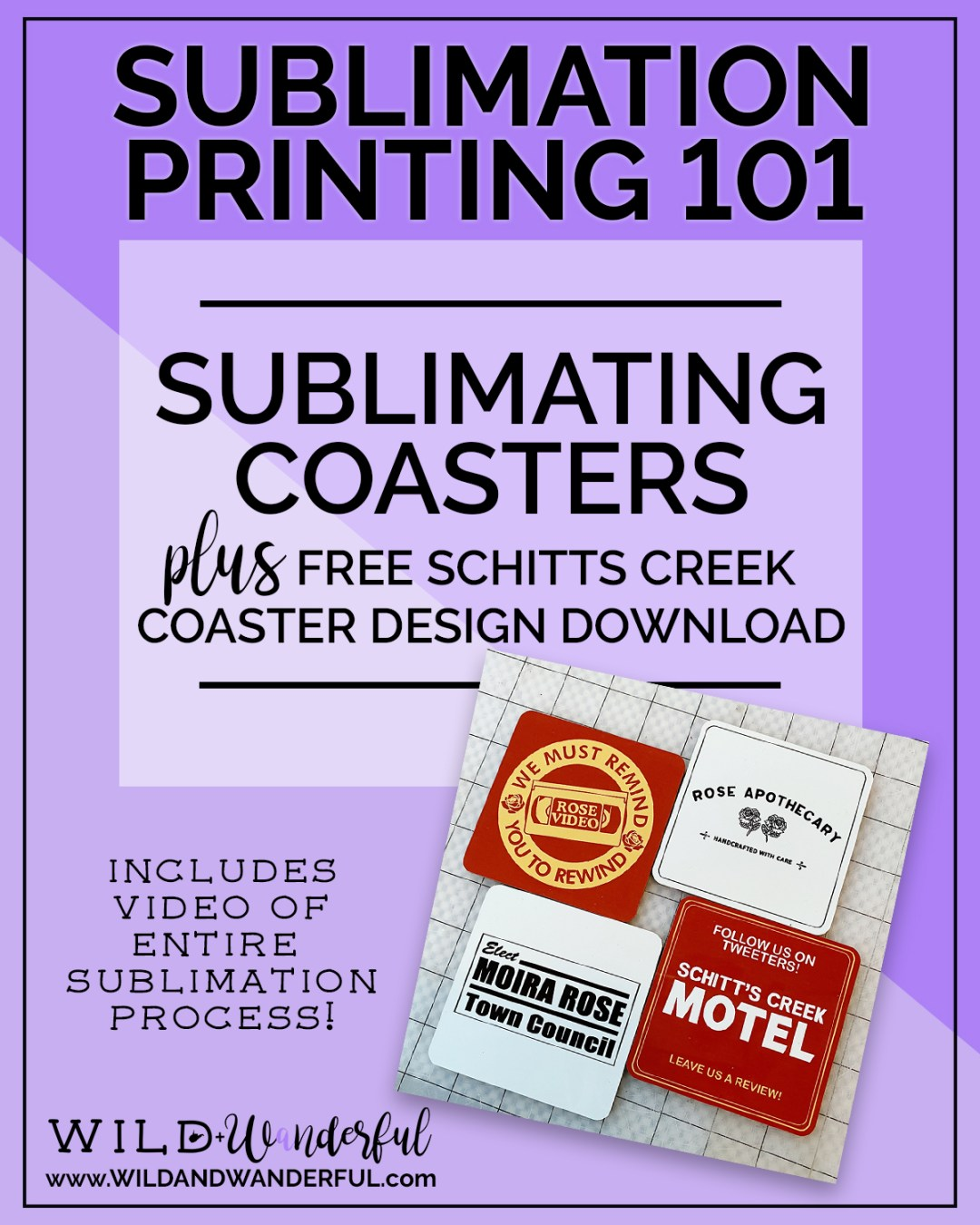 Sublimation Printing 101 | Sublimating Coasters (plus a FREE Schitts Creek coaster printable!)