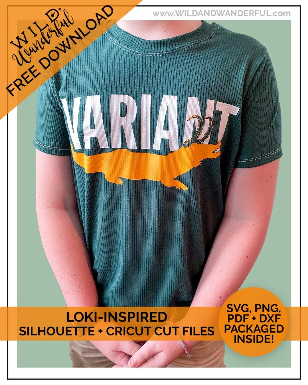 Variant :: FREE Loki Alligator Inspired Silhouette + Cricut Cut Files!