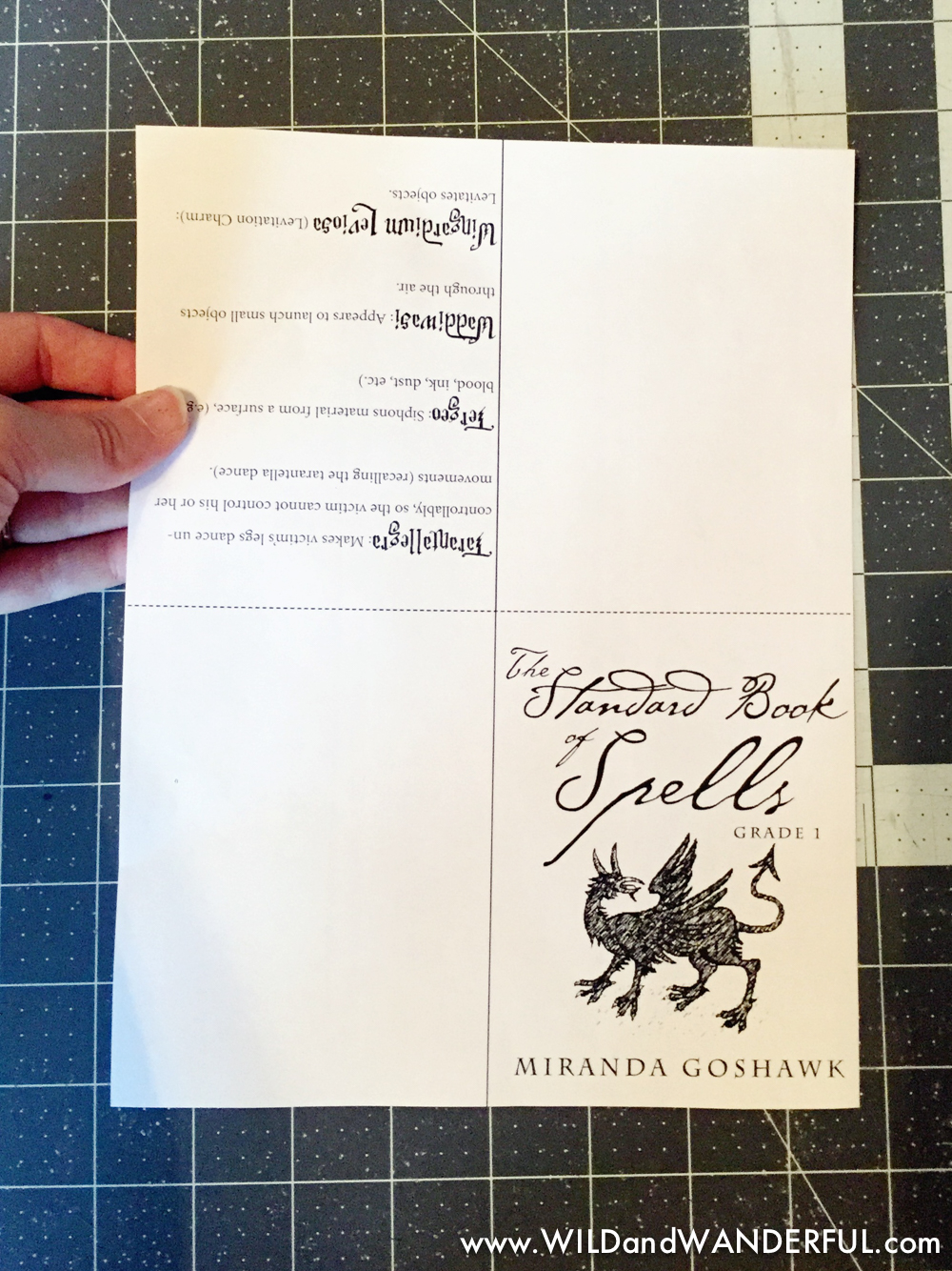 graphic about Printable Spell Book Pages identify Do it yourself Harry Potter Spellbook + Printable