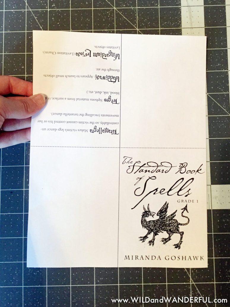 DIY Harry Potter Spellbook + Printable