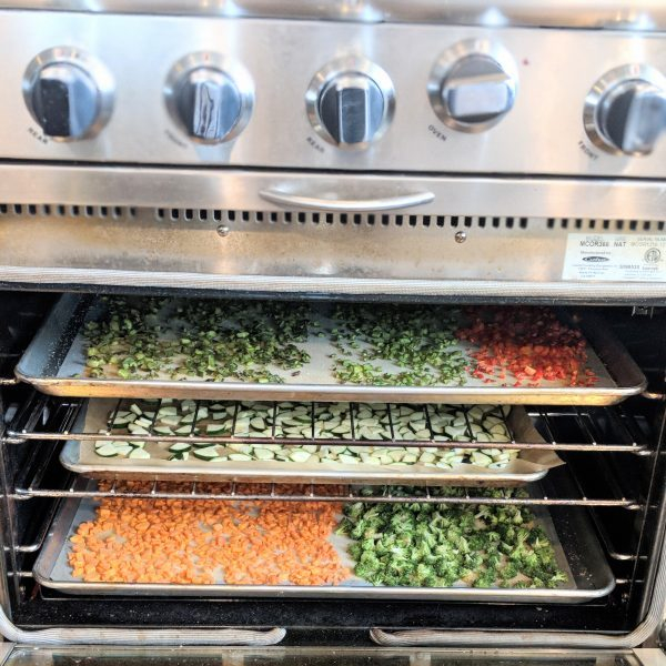 dehydrating in a convection oven