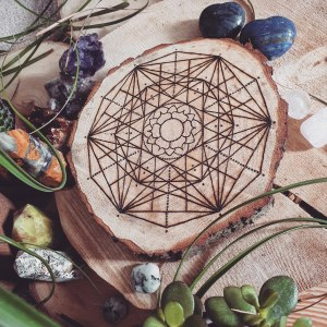 The Crown Chakra Crystal Grid