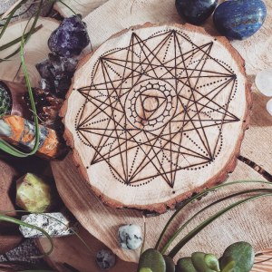 The Throat Chakra Crystal Grid