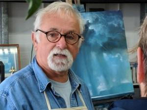 Artist Willie Fulton at his studio