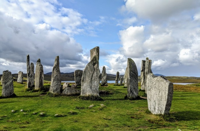The famous Calanais Standing Stones on the Isle of Lewis
