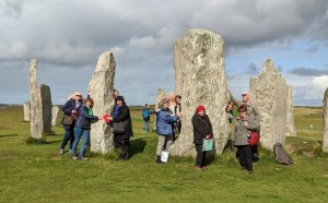 Painting group at Calanais Standing Stones