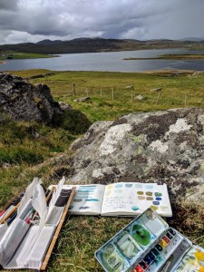 Plein air painting in Scotland