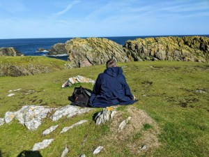 Sketching at Butt of Lewis