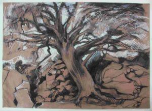 Drawing by Scottish artist Manna Dobo