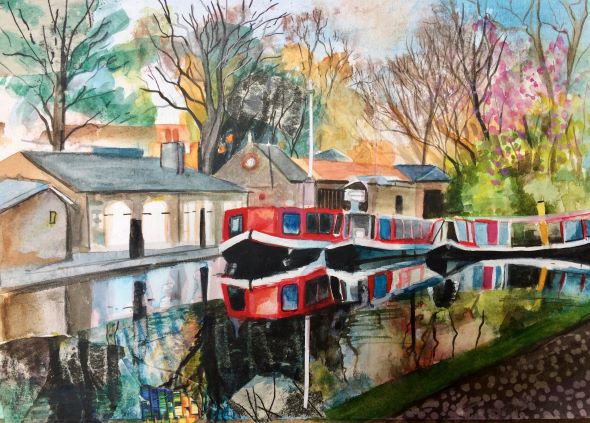 The Basin in Autumn by Lesley Banks
