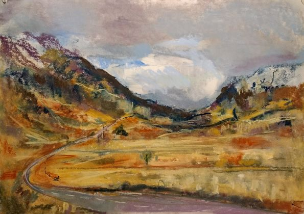 Glencoe, Karen Strang plein air painting in Scotland