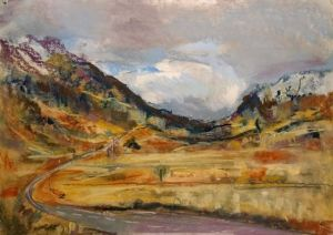 Glencoe Plein Air, Scotland, plein air landscape painting by Wild at Art tutor Karen Strang
