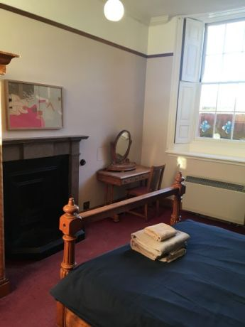 bedroom at hospitalfield
