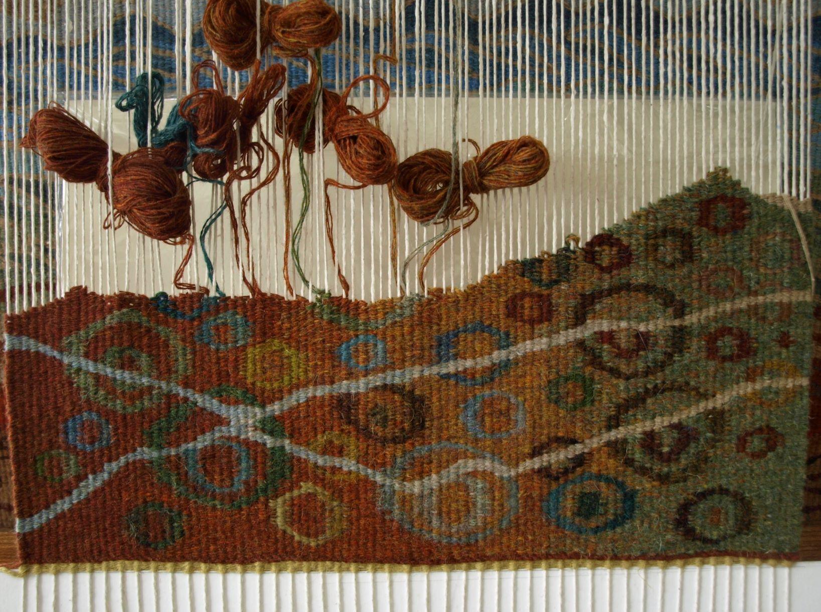 Tapestry by Scottish handloom weaver Louise Oppenheimer