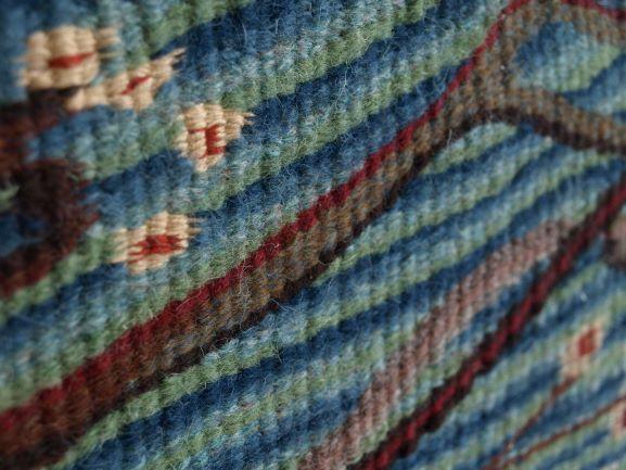 Blossom, handwoven tapestry by Scottish weaver/ tapestry artist Louise Oppenheimer