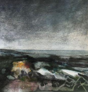 Watercolour landscape painting by Scottish artist Gemma Petrie