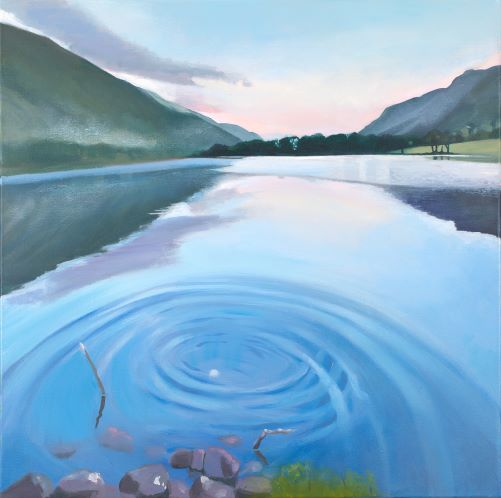 Loch Lochy painting by Scottish artist Lesley Banks
