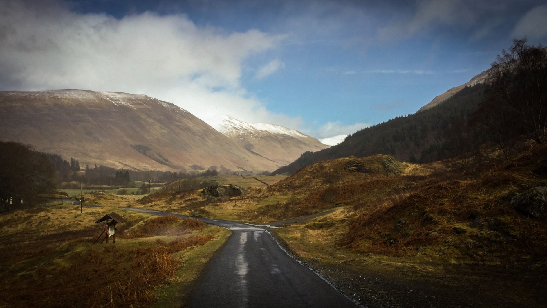 Glen Lyon in Highlands Perthshire