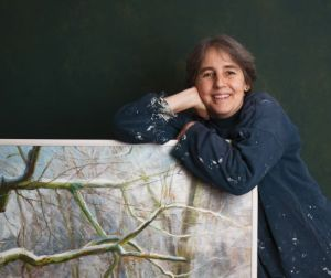 Catherine Cowtan artist in residence at Culcreuch Castle in Stirlingshire, Scotland