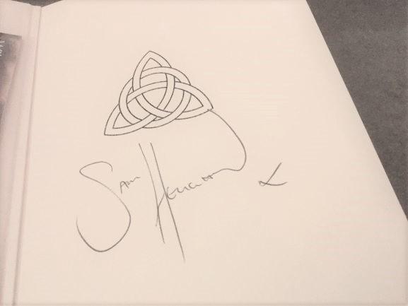 Our handmade sketchbooks signed by Jamie AKA Sam Heughan