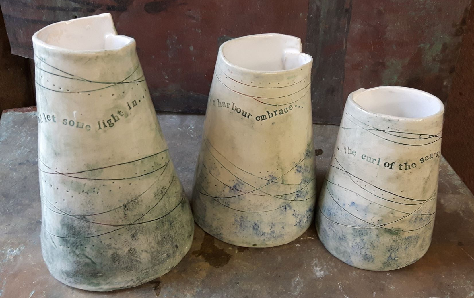 Sea Tree pottery vases
